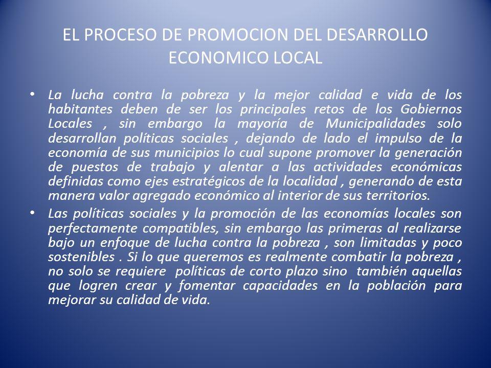 EL PROCESO DE PROMOCION DEL DESARROLLO ECONOMICO LOCAL