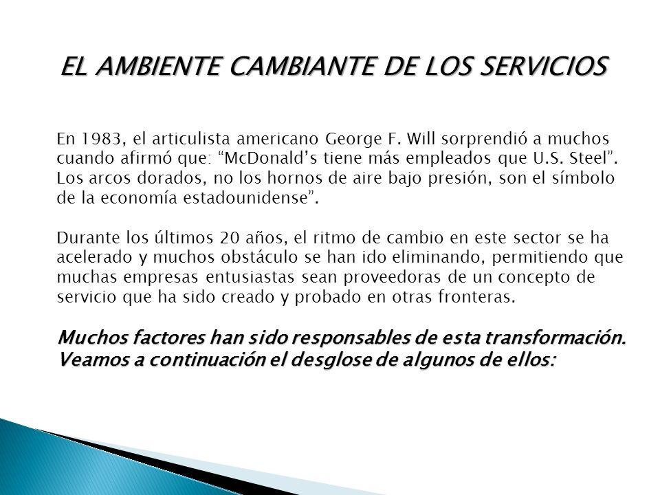 EL AMBIENTE CAMBIANTE DE LOS SERVICIOS