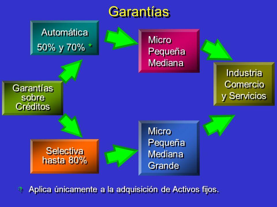 Garantías Automática 50% y 70% * Industria Comercio y Servicios