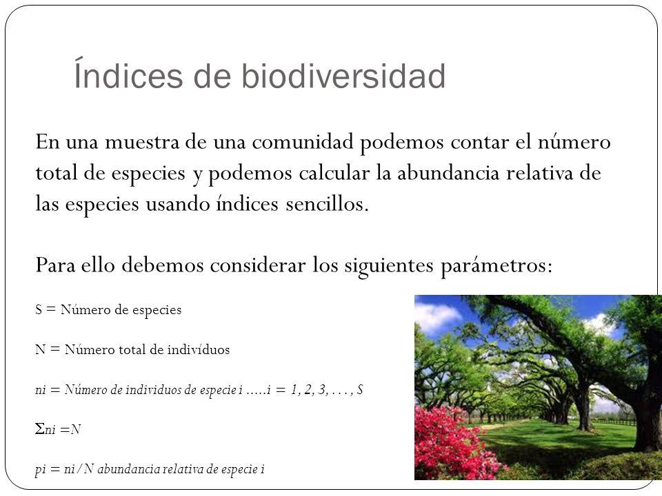 Índices de biodiversidad