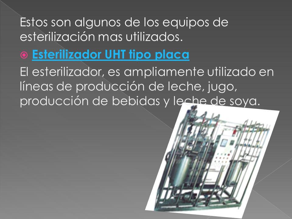 Estos son algunos de los equipos de esterilización mas utilizados.
