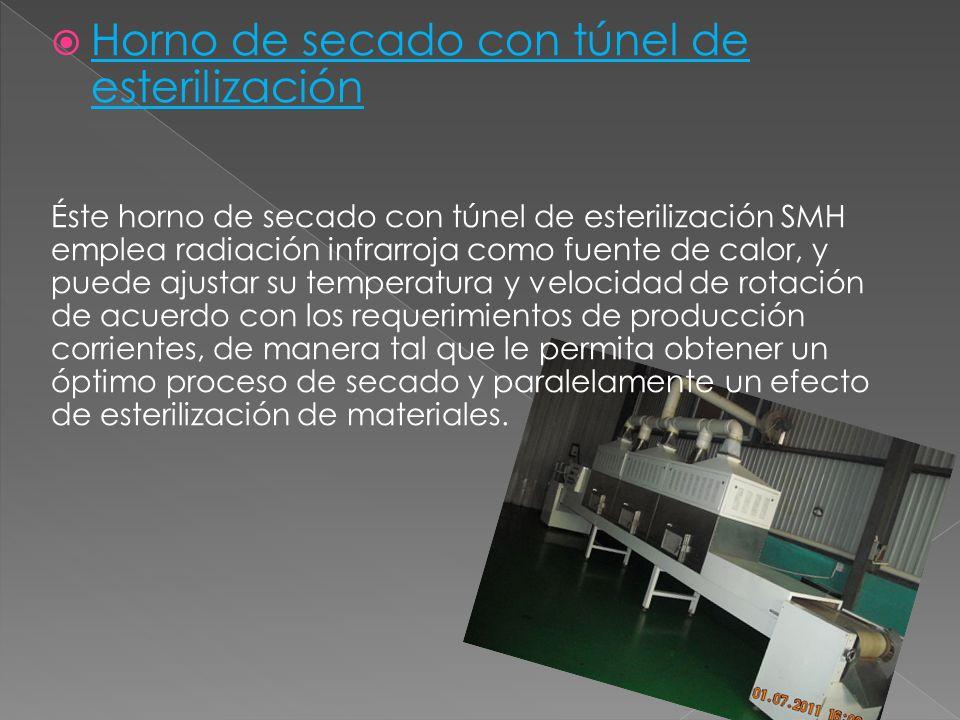 Horno de secado con túnel de esterilización