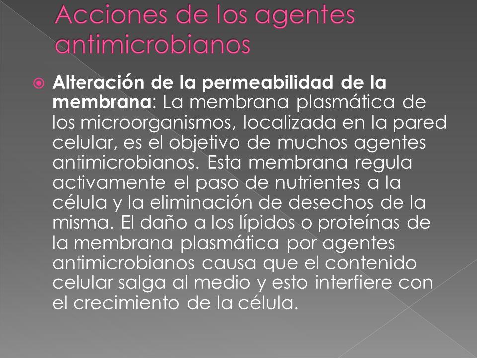 Acciones de los agentes antimicrobianos