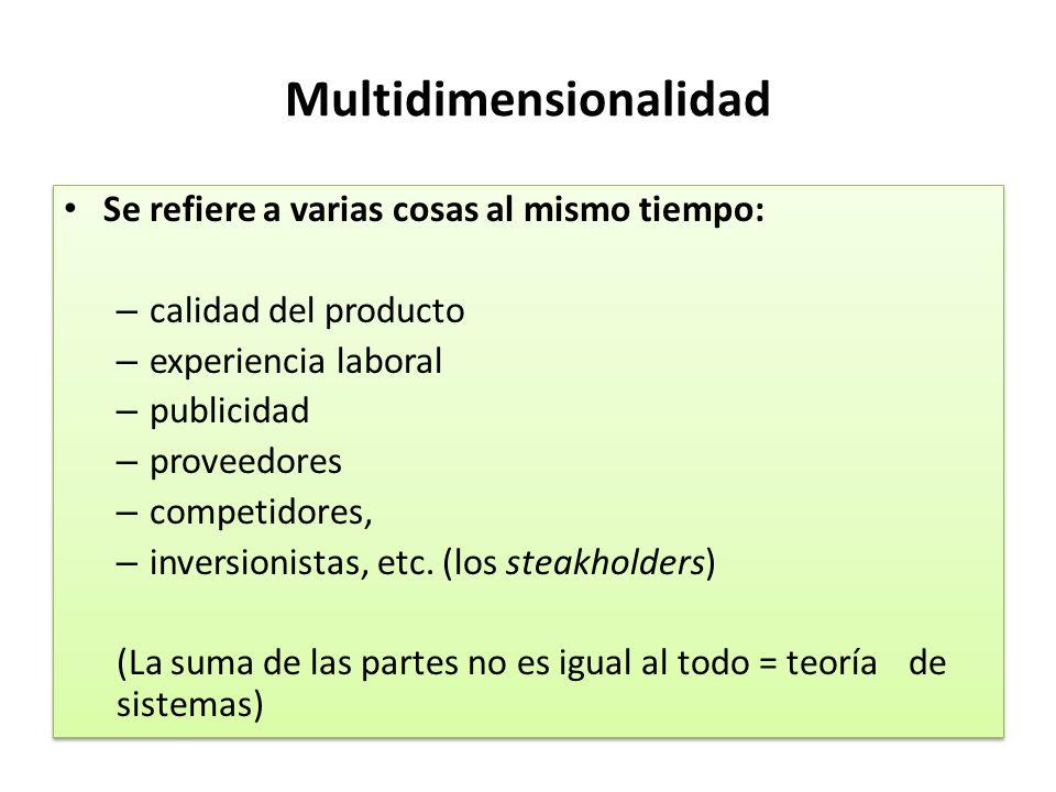 Multidimensionalidad