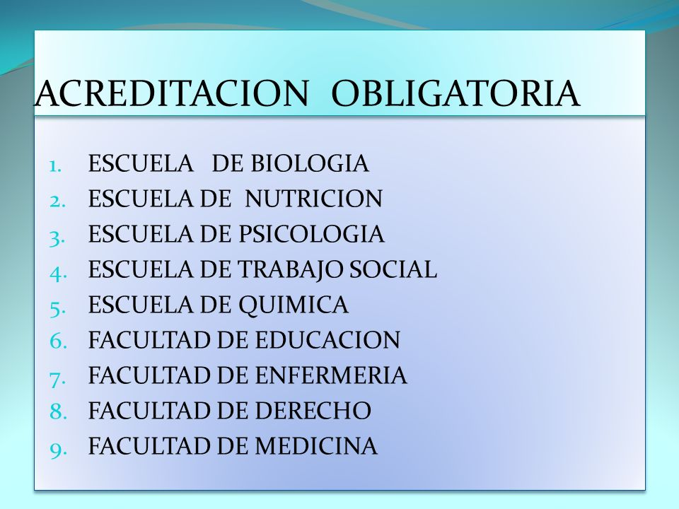 ACREDITACION OBLIGATORIA