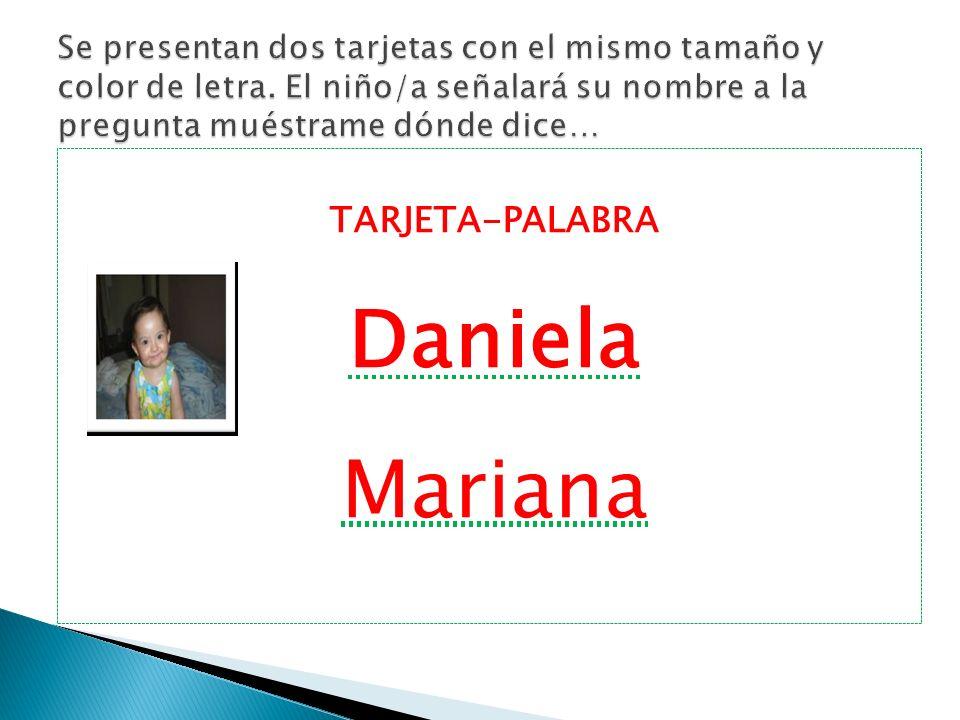 Daniela Mariana TARJETA-PALABRA