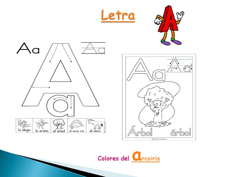 Letra Colores del arcoiris