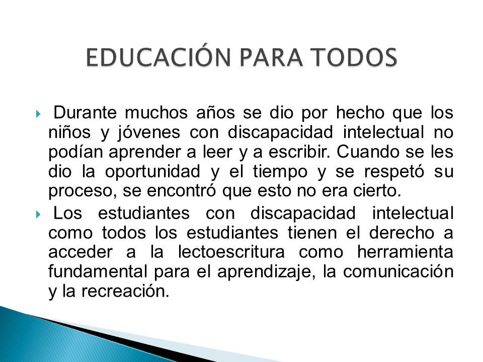 EDUCACIÓN PARA TODOS