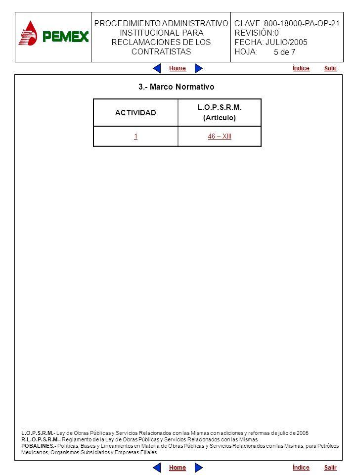 5 de 7 3.- Marco Normativo L.O.P.S.R.M. ACTIVIDAD (Artículo) 1