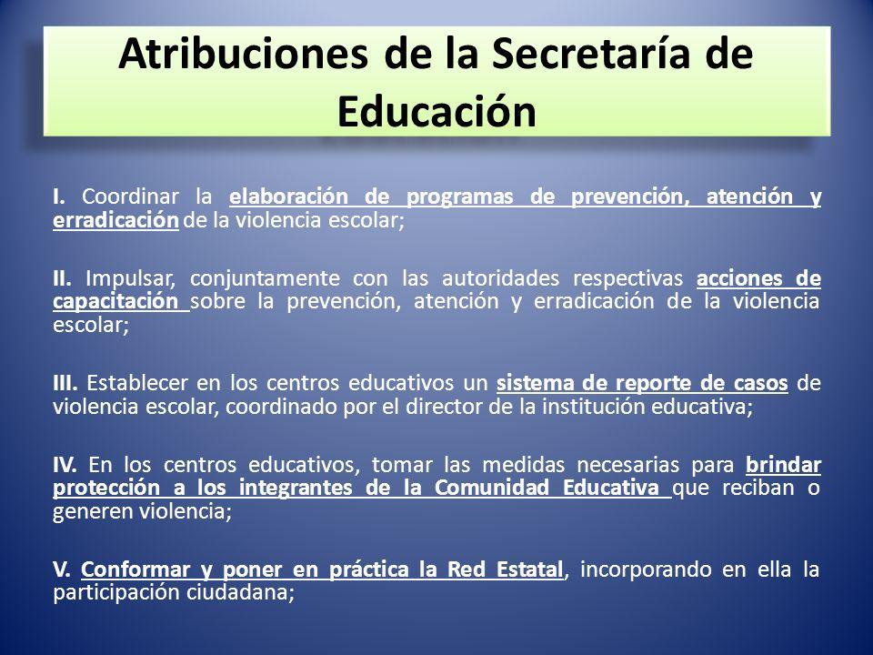 Atribuciones de la Secretaría de Educación