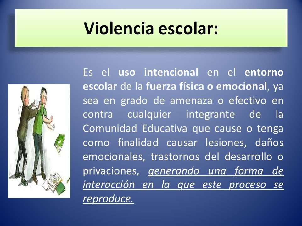 Violencia escolar: