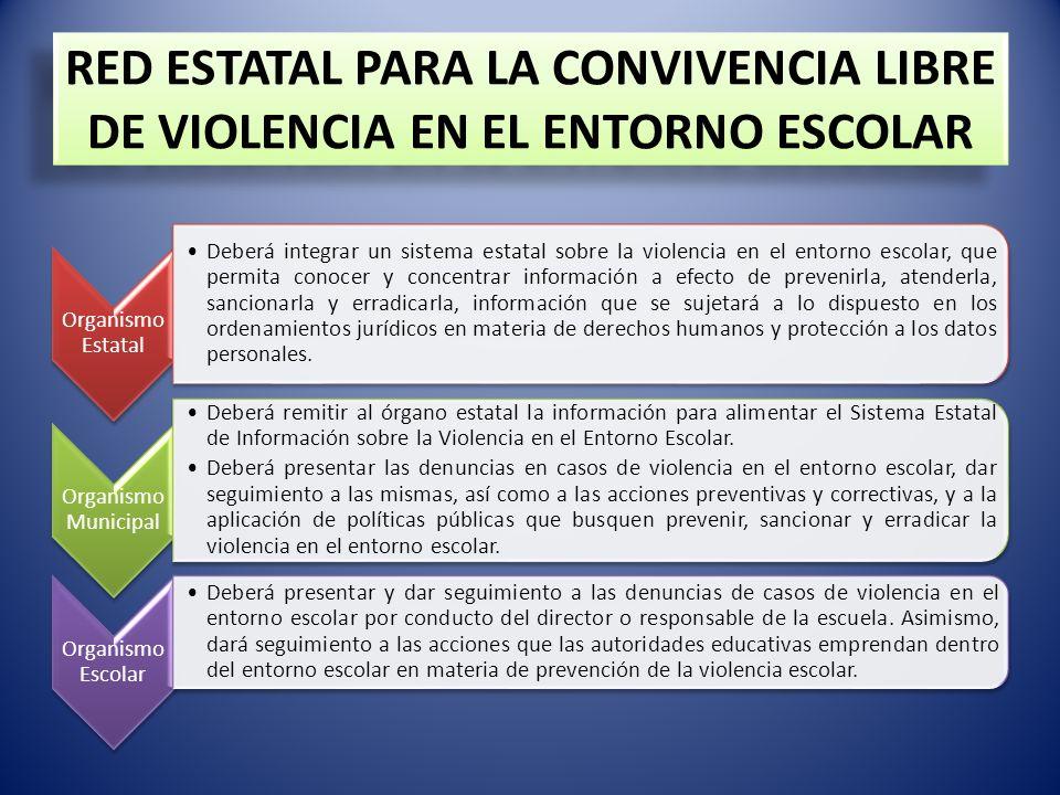 RED ESTATAL PARA LA CONVIVENCIA LIBRE DE VIOLENCIA EN EL ENTORNO ESCOLAR