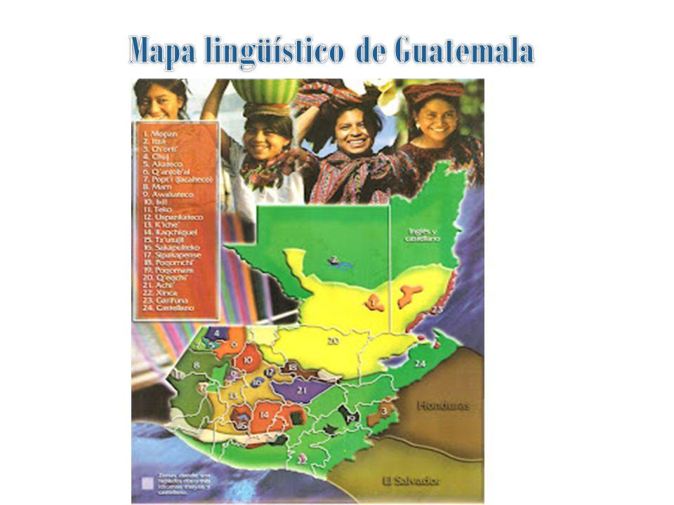 Mapa lingüístico de Guatemala
