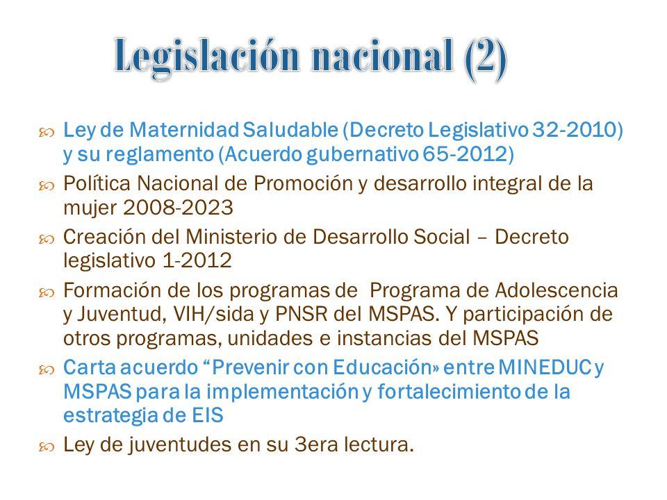 Legislación nacional (2)