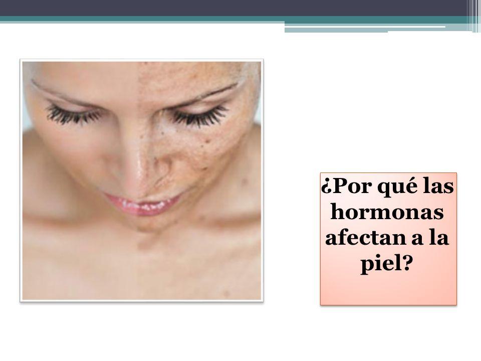 ¿Por qué las hormonas afectan a la piel