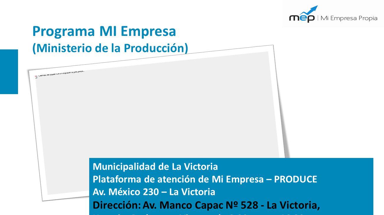 Programa MI Empresa (Ministerio de la Producción)