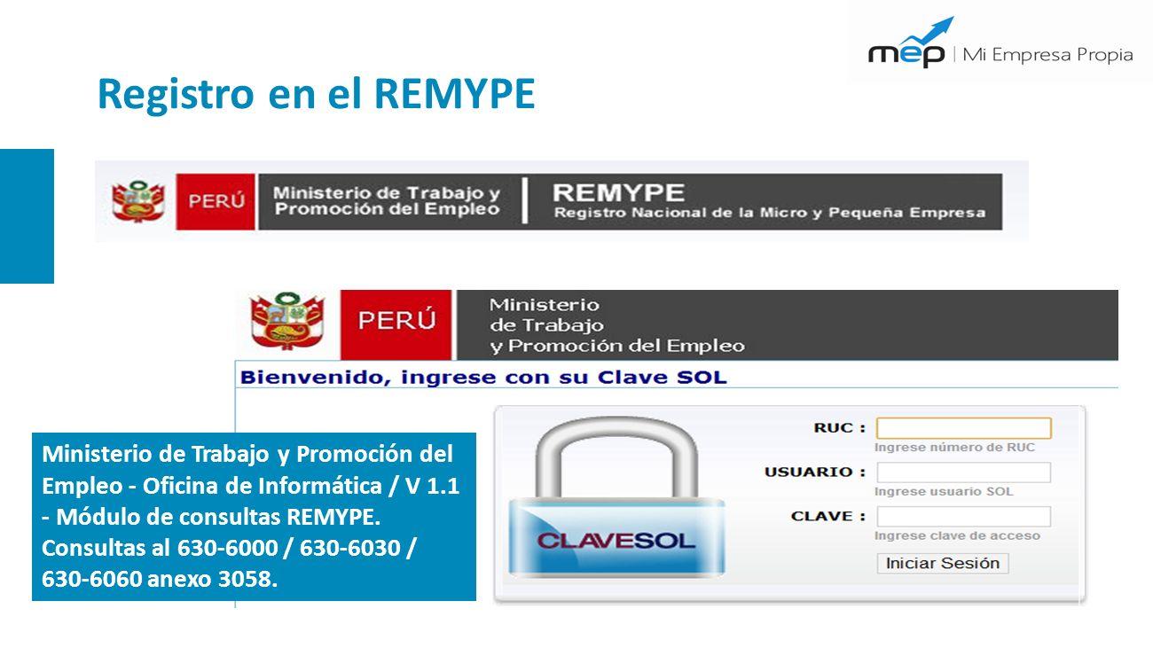 Registro en el REMYPE