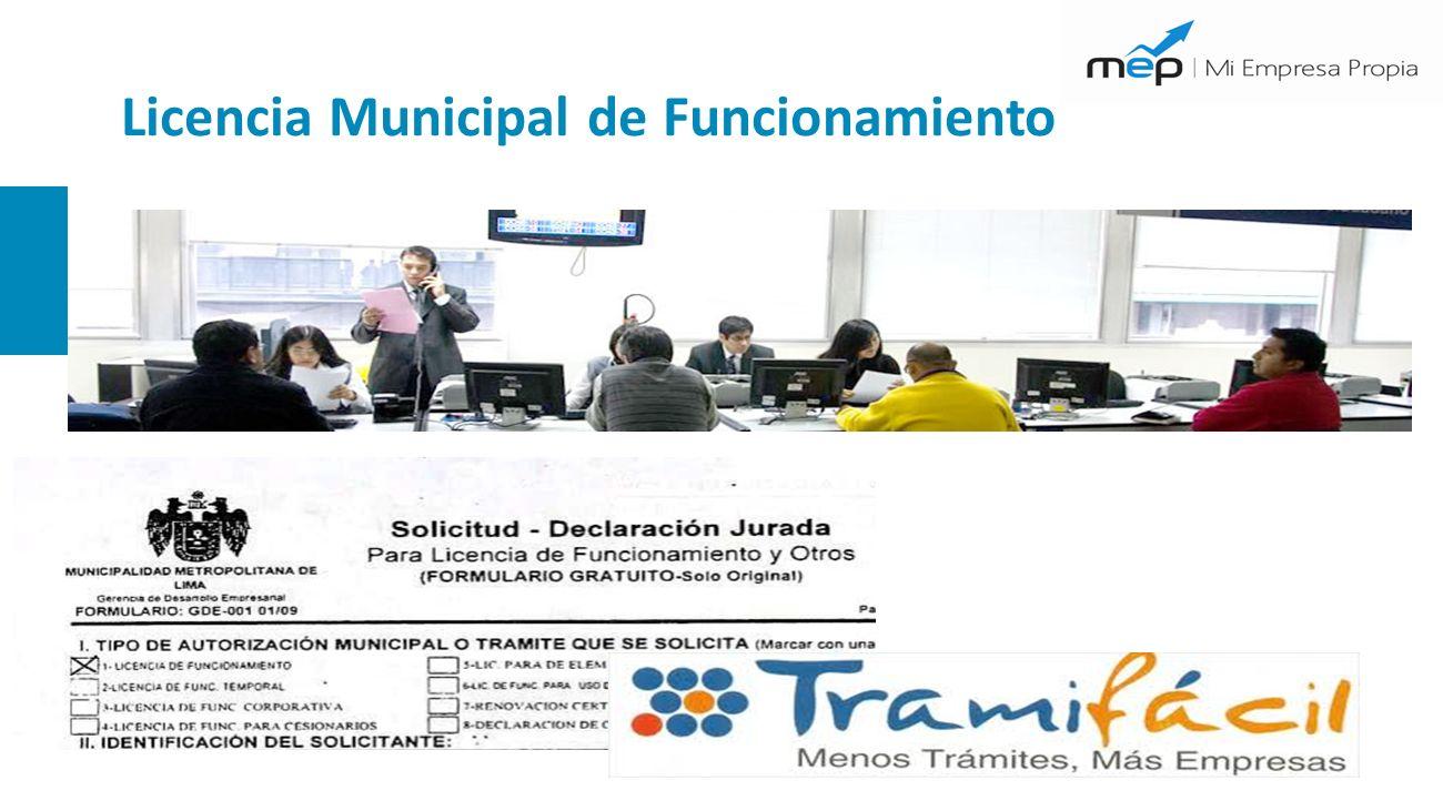 Licencia Municipal de Funcionamiento