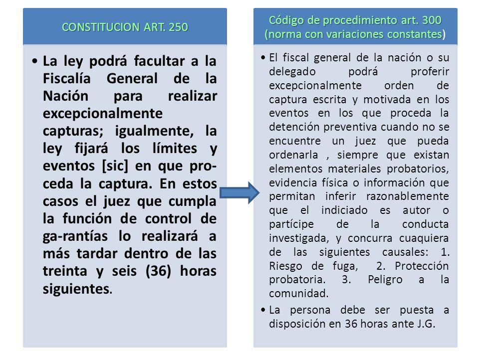 Código de procedimiento art. 300 (norma con variaciones constantes)