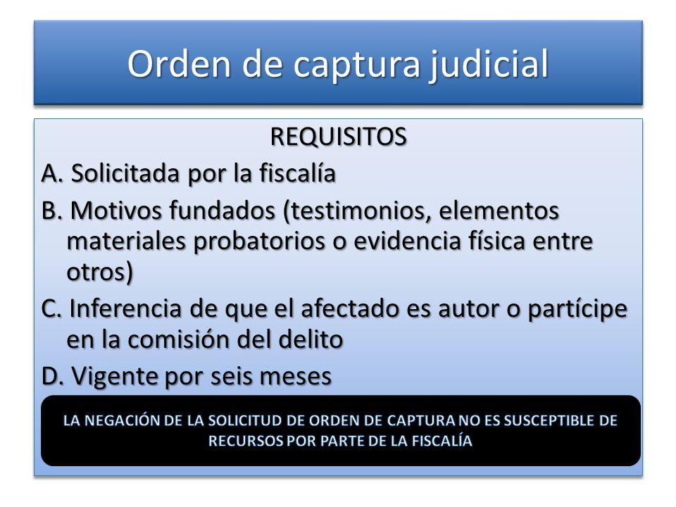 Orden de captura judicial