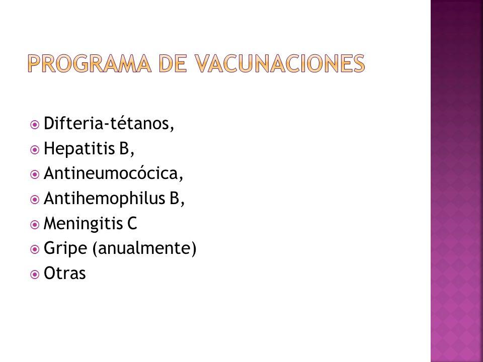 PROGRAMA DE VACUNACIONES
