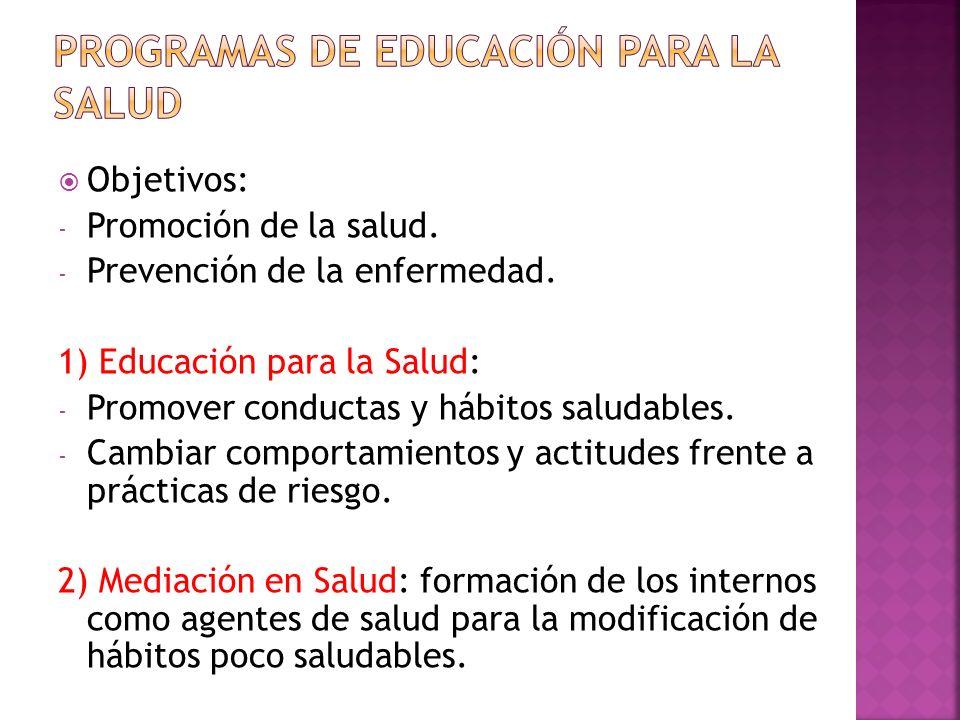 PROGRAMAS DE EDUCACIÓN PARA LA SALUD