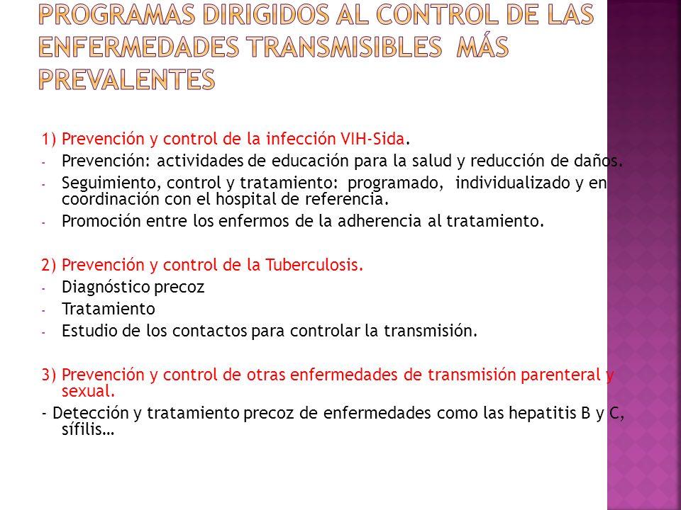 PROGRAMAS DIRIGIDOS AL CONTROL DE LAS ENFERMEDADES TRANSMISIBLES MÁS PREVALENTES