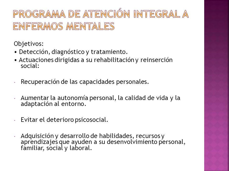 PROGRAMA DE ATENCIÓN INTEGRAL A ENFERMOS MENTALES