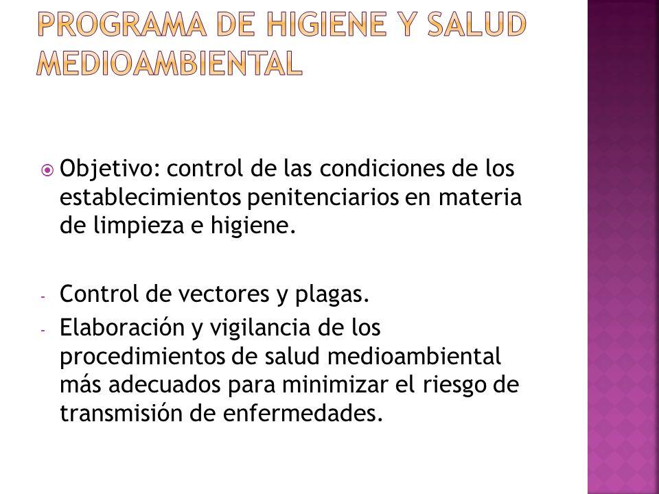 PROGRAMA DE HIGIENE Y SALUD MEDIOAMBIENTAL