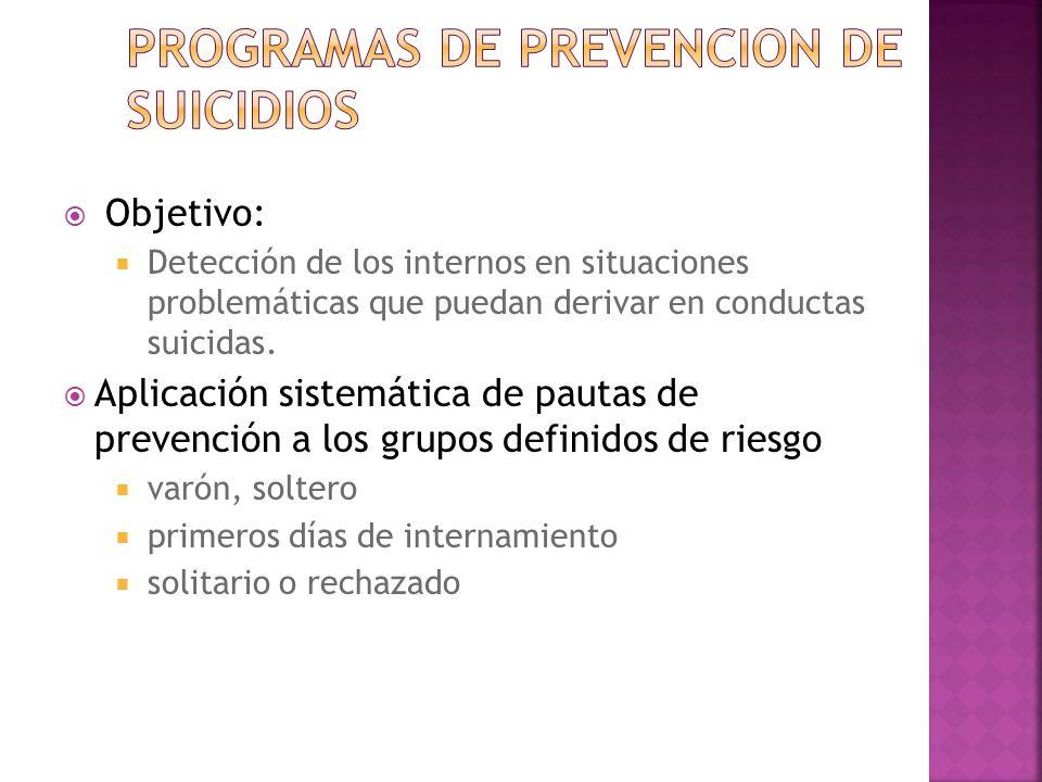 Programas de prevencion de suicidios