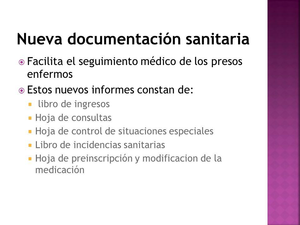 Nueva documentación sanitaria