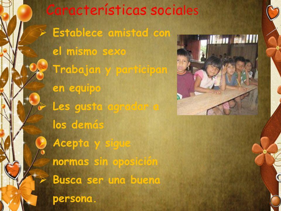 La Pubertad Características sociales