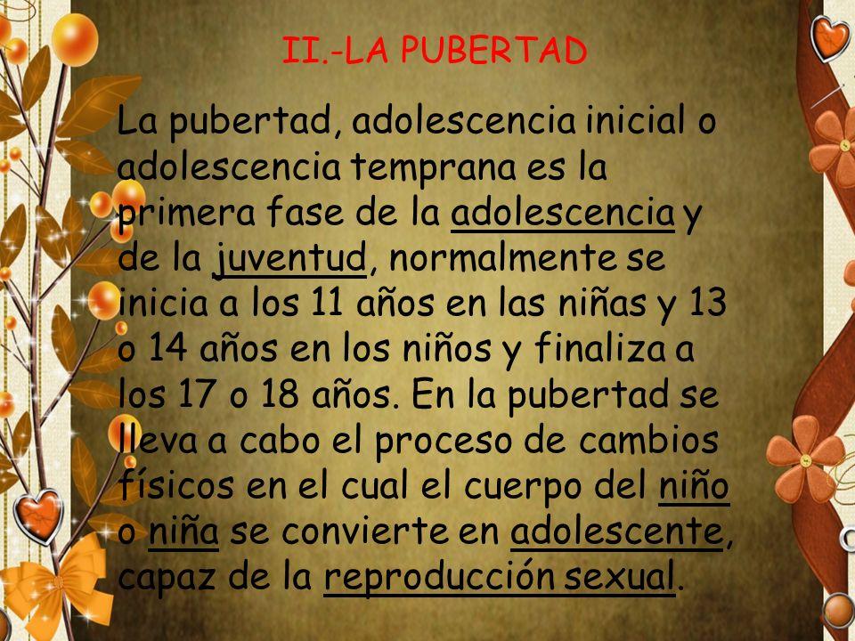 II.-LA PUBERTAD
