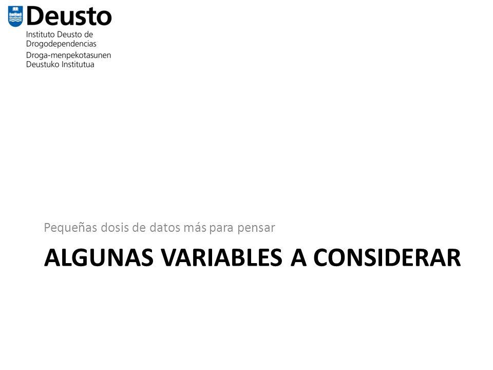 Algunas variables a considerar