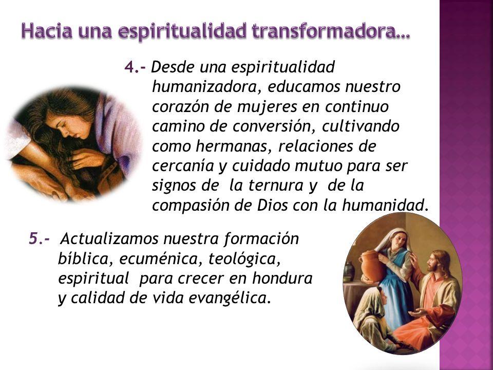 Hacia una espiritualidad transformadora…