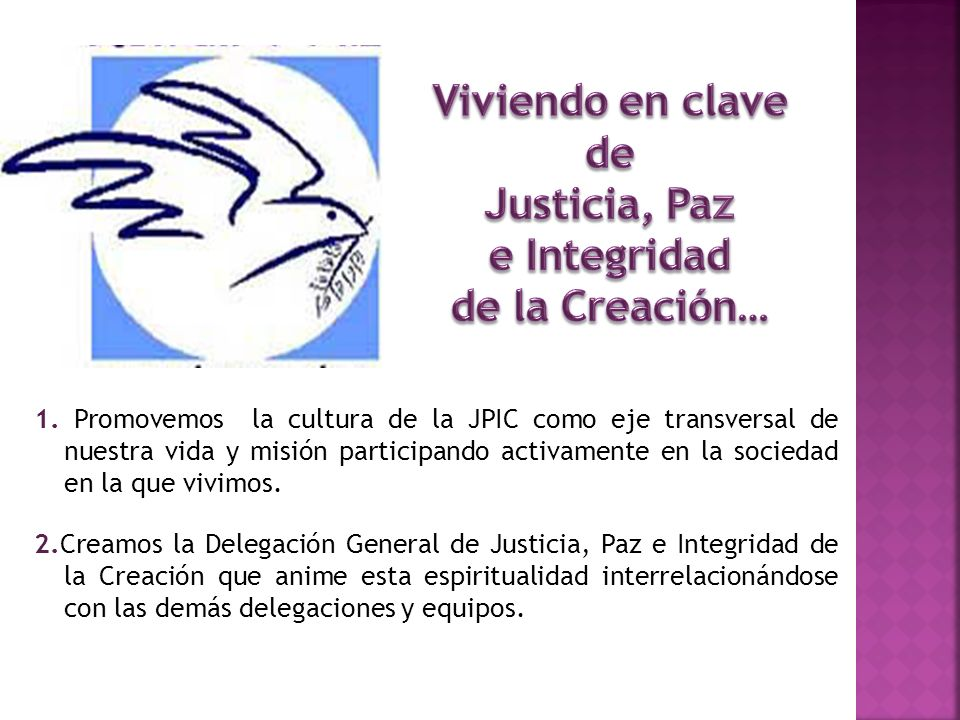 Viviendo en clave de Justicia, Paz e Integridad de la Creación…