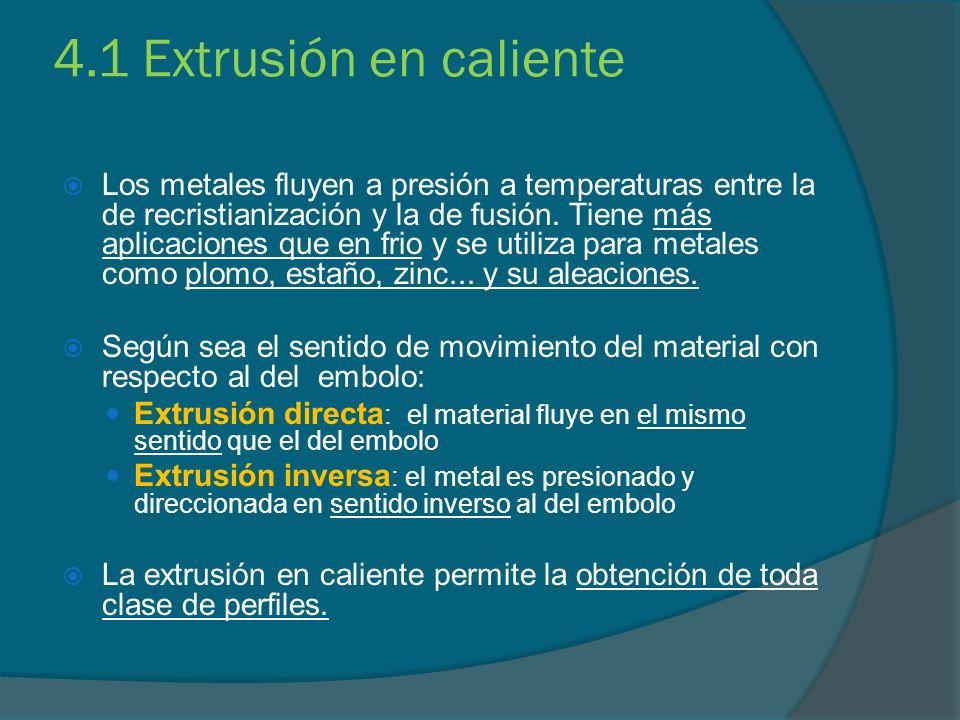 4.1 Extrusión en caliente