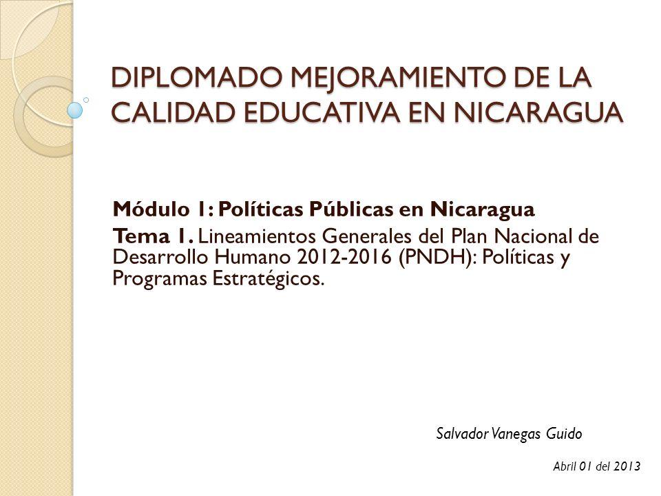DIPLOMADO MEJORAMIENTO DE LA CALIDAD EDUCATIVA EN NICARAGUA