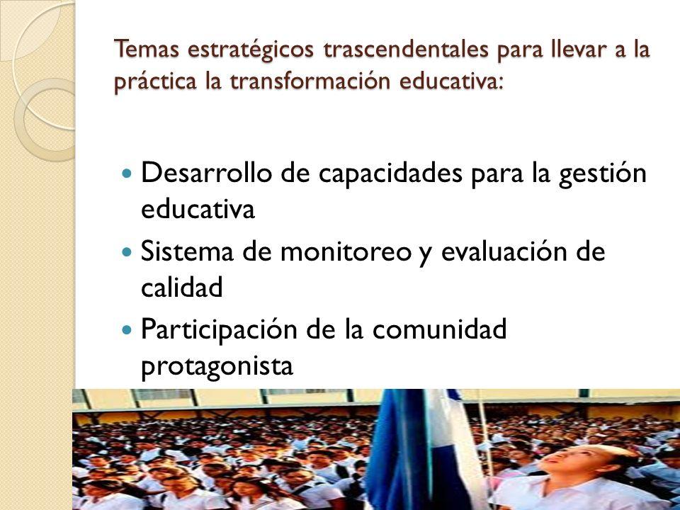 Desarrollo de capacidades para la gestión educativa