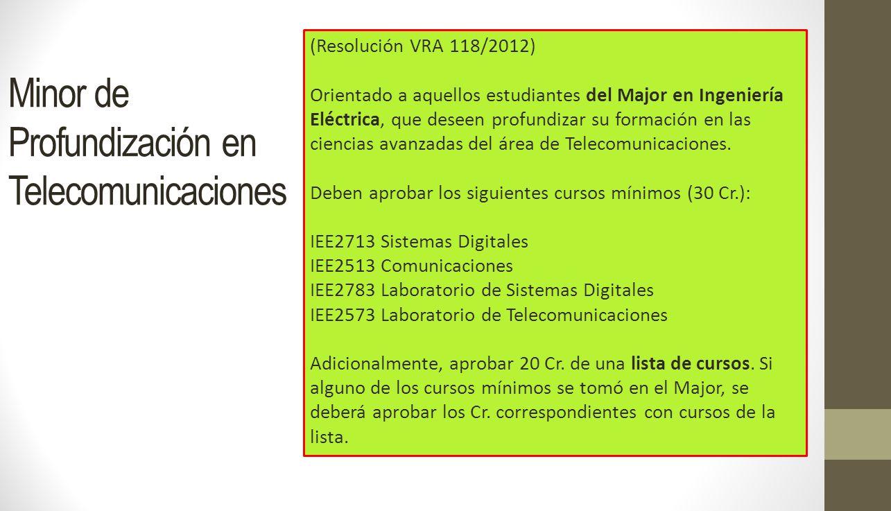 Minor de Profundización en Telecomunicaciones
