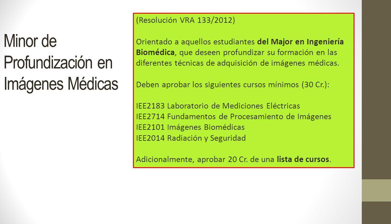 Minor de Profundización en Imágenes Médicas