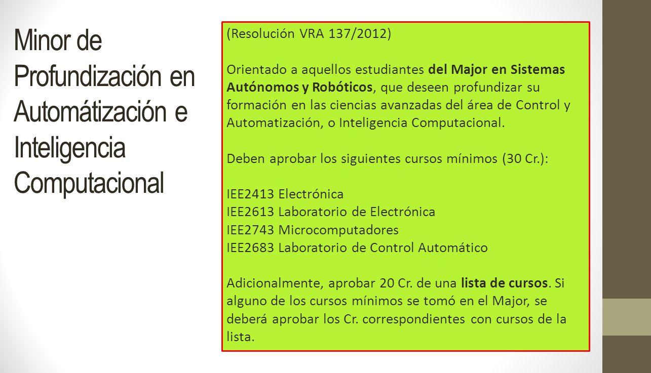 Minor de Profundización en Automátización e Inteligencia Computacional