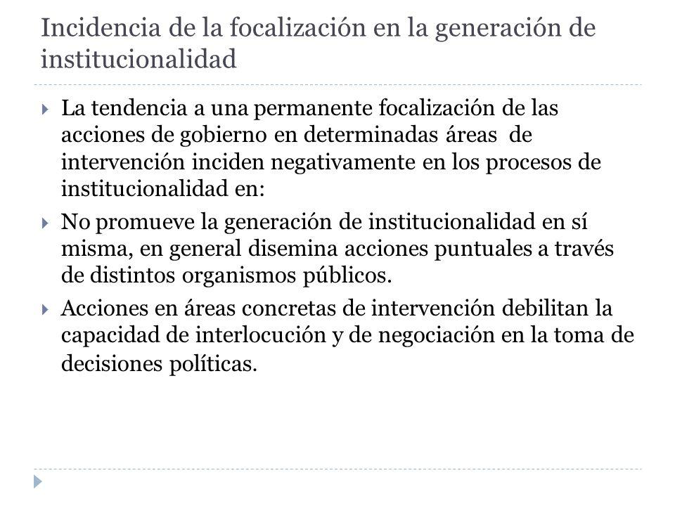 Incidencia de la focalización en la generación de institucionalidad