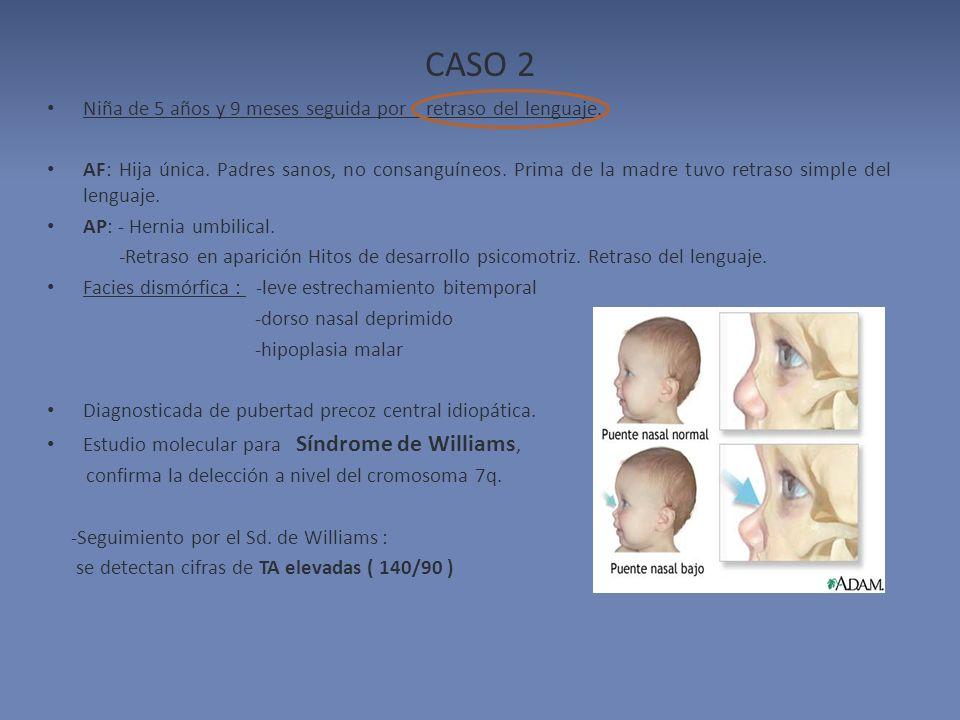CASO 2 Niña de 5 años y 9 meses seguida por retraso del lenguaje.