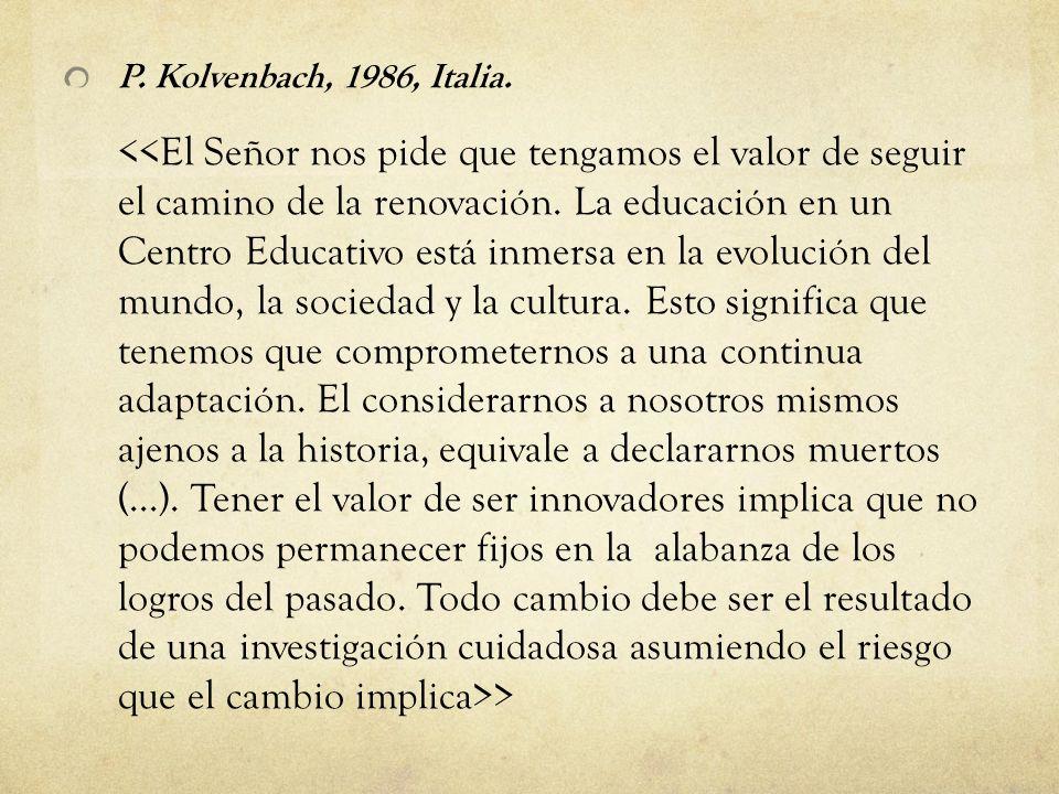 P. Kolvenbach, 1986, Italia.