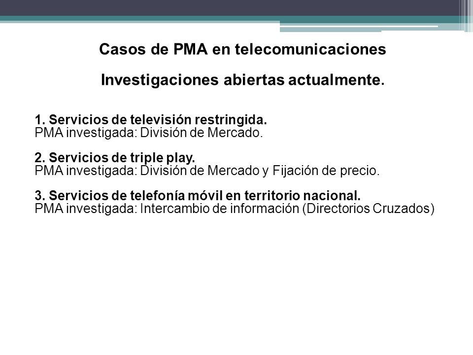 Casos de PMA en telecomunicaciones