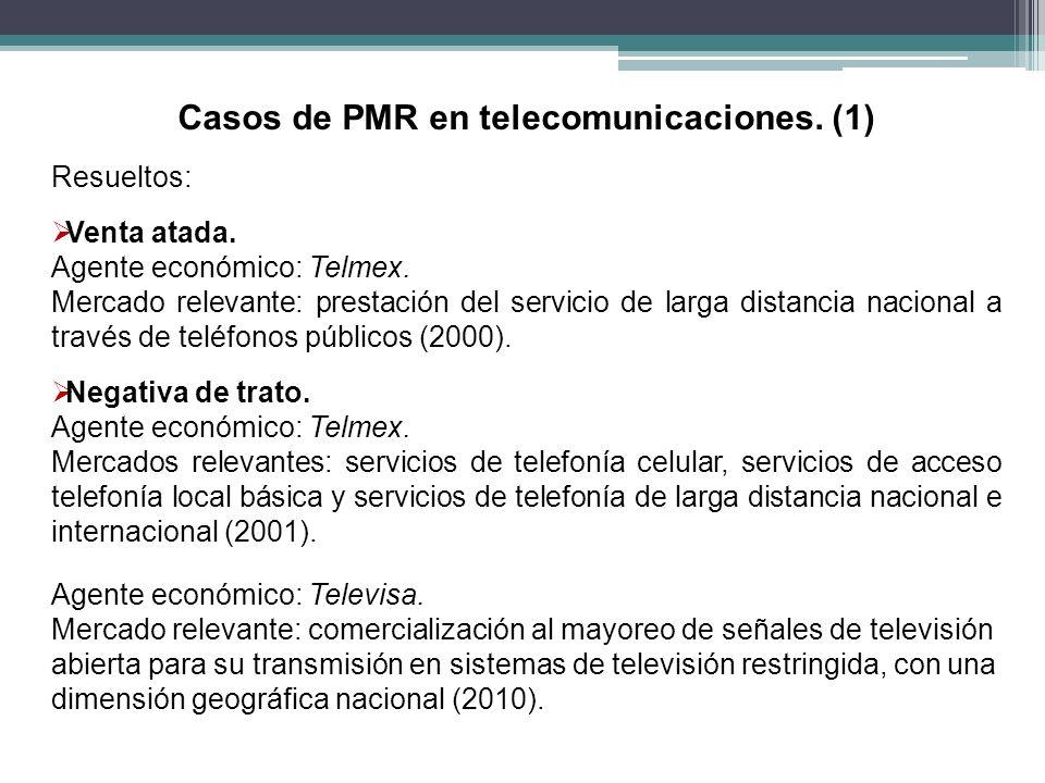 Casos de PMR en telecomunicaciones. (1)
