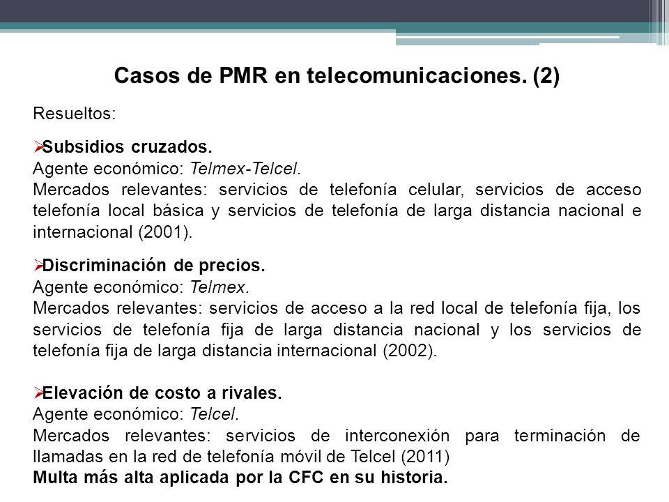 Casos de PMR en telecomunicaciones. (2)