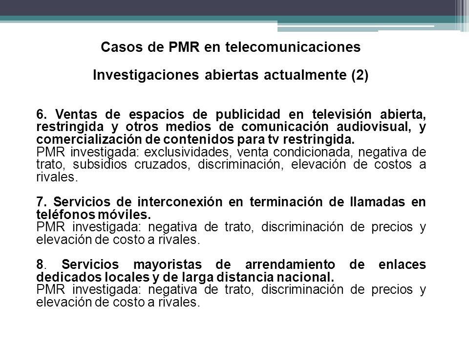Casos de PMR en telecomunicaciones