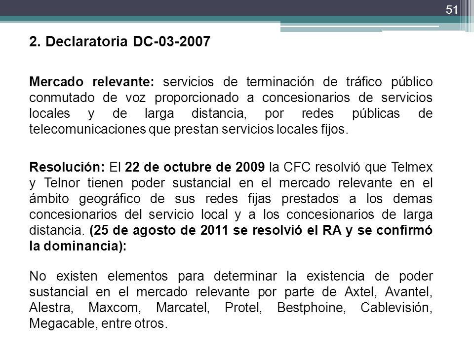 2. Declaratoria DC-03-2007